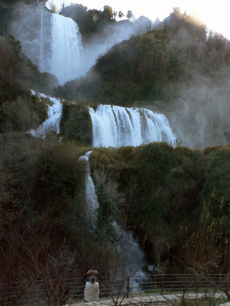 Travel In Italy To Marmore Falls And Piediluco Lake Near
